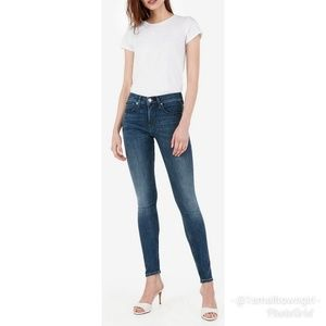 Express Stella light distressed low rise jeans 10L